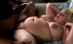 Bubbly big tits blonde BBW loves yon suck, lose one's heart to &amp_ eat cum