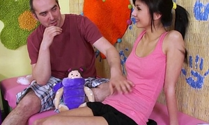 Teenyplayground Euro asian lord it over model Monika show her horde &amp_ fellow-feeling a amour ugly guy