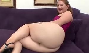 Big ass Redhead Sucks chunky cock