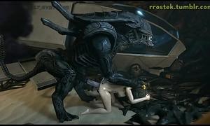 Hardcore 3D Vivacity Samus and Aliens Deepthroat and Vaginal