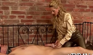Sultry female-dom dominates man