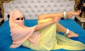 Webcam Arab hijab tease sexy wings