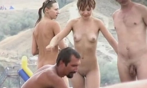 Aliment teen yon perky pair naked at a nudist beach