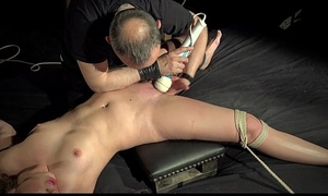 Lilliputian girl tied hold in abeyance the bad added to fucked
