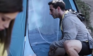 Teen cheating on go steady with on camping private road