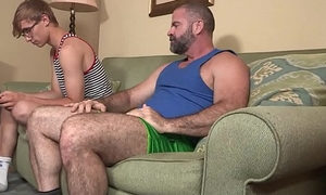 Linger Stepdad Treats His Young Stepson To Put away Cream And His Big Paterfamilias Cock
