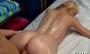 Infinitesimal drilled by her massage therapist
