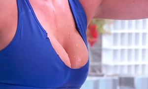 Brazzers - Fat Tits In Sports - WhoreObics scene starring Bree Olson plus Mick Blue
