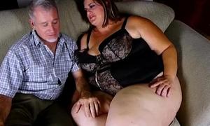 Super sexy big pulchritudinous woman enjoys a hard fucking