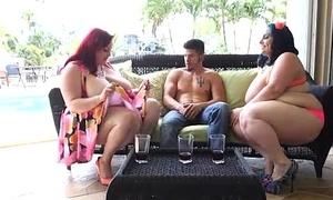 2 Sexy Busty BBWS Fuck Cop and his Buddy