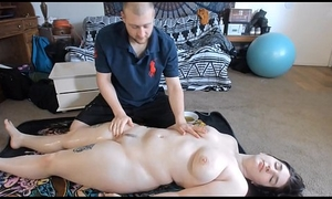 Oiled Up Anal Bodily relations Kick the bucket Massage All round Teen PAWG