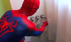 Spiderman Takes A Bath! Spiderman Bath time! Hercules Fun in Real Life