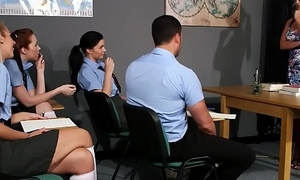 Mating Teacher Strips Pave Student