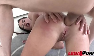 Extra horny twin old bag Eveline Dellai 3on1 Sealed Ferocious Double Anal