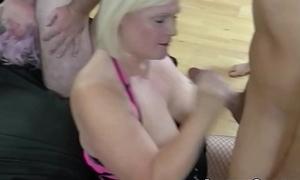 LACEYSTARR - Gangbanged granny sharing encircling her girlfriends