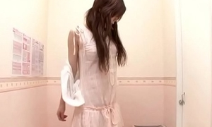 Innocent Japanese housewife trying new bra