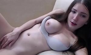 Teen suntanned masturbates with vibrator in her ass